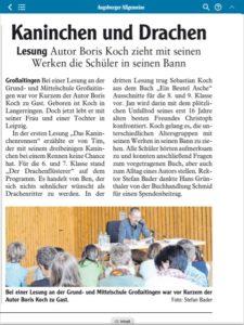 Zeitungsbericht Koch 2016